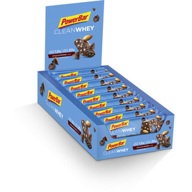 PowerBar Clean Whey Bar Box 18x60g, Chocolate Brownie